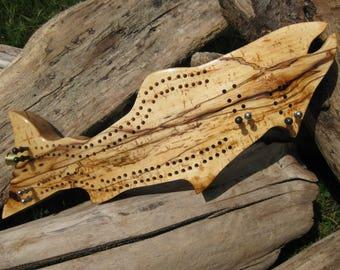 Oregon Driftwood  Fish Cribbage Board
