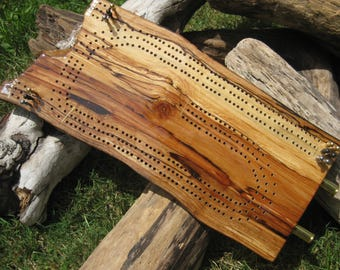 3 Player Driftwood Cribbage Board