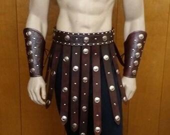 Leather Armor Gladiator Set larp cosplay
