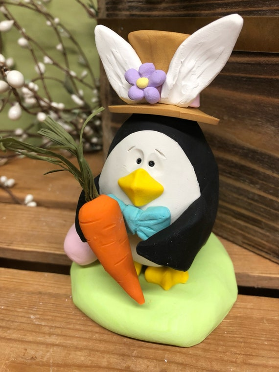 Easter penguin penguin sculpture gifts for him gift for like this item negle Image collections