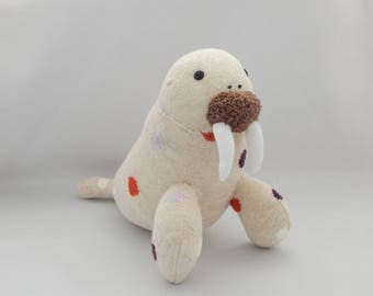 Walrus Plush Toy, Walrus Plush, Plushie, Stuffed Animal, Sock Monkey, Stuffed Toy