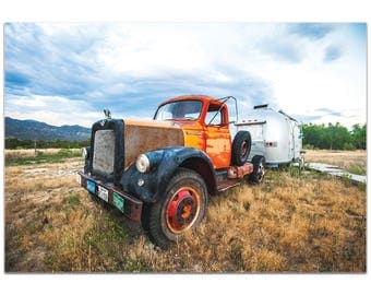 Americana Wall Art 'The Workhorse' by Meirav Levy - Classic Truck Decor Country Rustic Photography Artwork on Metal or Plexiglass