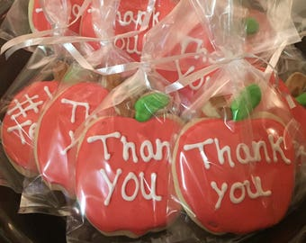 Teacher Appreciation Cookies/Back to School-1Dozen
