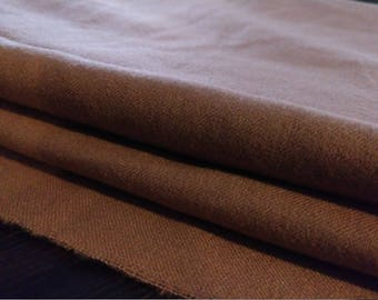 Over 4 1/2 Yards of Lt. Brown Wool Suiting Fabric