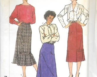Simplicity 7603 Misses Gored Skirts With Hemline Pleats Sewing Pattern, Size 16, UNCUT