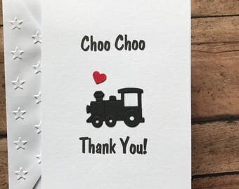 train cards thank you cards stationery set greeting cards baby shower thank