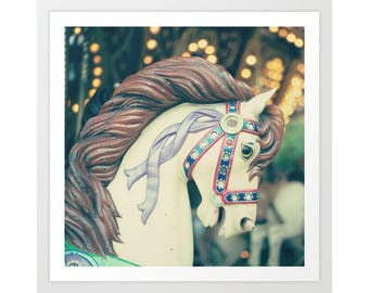 Carousel horse, boy nursery wall art boy nursery decor boy, nursery art, nursery prints, carnival photography, carnival art, carousel