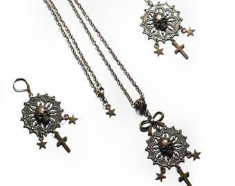 """Necklace bronze Chrome Hearts """"Shiny Skulls"""" Baby Angel"""