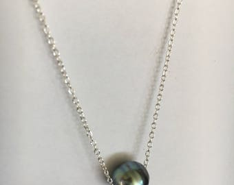 NEW! Tahitian Pearl Sterling Silver necklace