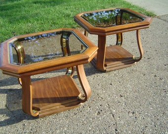 Vintage Pair of End Tables Unique Living Room Furniture...... Local pick up only Warren, Michigan (Detroit Area)