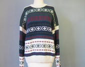 Ski Sweater / Vtg 90s / A...