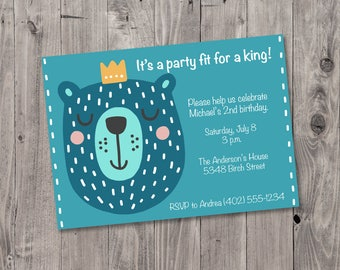 Printable Children's Birthday Party Invitation