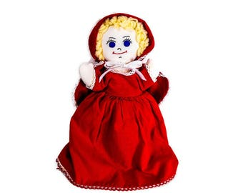 Vintage Red Riding Hood Doll - 3 Dolls in One, Topsy Turvy Doll,