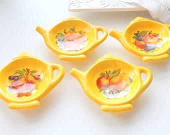 TEA BAG HOLDERS, Vintage, Ceramic Tea Bag Holders, Set of 4, Tea Party, Hostess Gift Inspiration