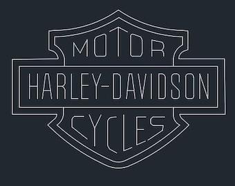 Handmade Harley Davidson Decals Etsy
