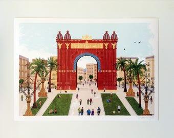 Arc de Triomf Barcelona, Cataluña Spain