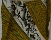 Chirimen wrapping cloth, Japanese furoshiki, eco gift wrapping cloth