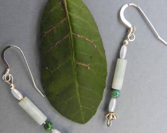 Malachite Drop and Dangle Earrings
