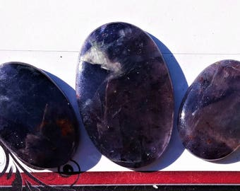 3 pcs Natural Iolite Sunstone  Cabochons Top Quality Gemstone Jewellery Making Loose stone 100% natural Handmade