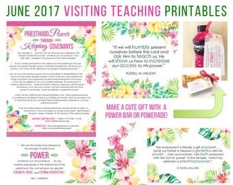 June  2017 Visiting Teaching Message Printable Instant Download - LDS - Mormon - VT Message