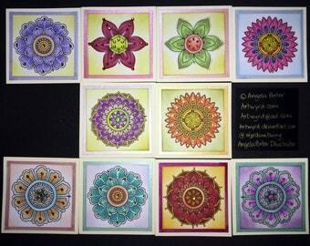 Boxed set of handmade art greetings cards -  Set B