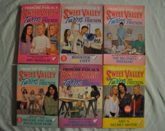 Group of 6 - Sweet Valley Twins and Friends - 43,52,54,55,62,83 - created by Francine Pascal