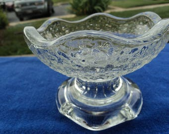 Vintage marbled glass/ desert glass/ nut bowl