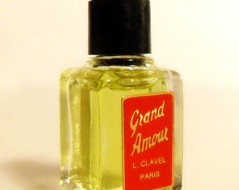 Vintage 1950s Grand Amour by L Clavel Micro Mini Miniature Perfume