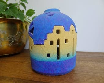 Vintage Azul Southwest Terracotta Luminary Tealight/Candle Holder