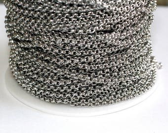 30ft Stainless Steel Rolo 3mm- Chain Links