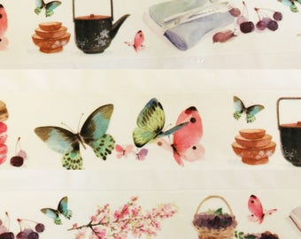 Butterfly Tea Time Washi Tape