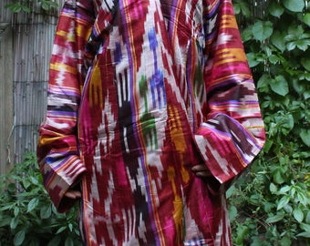 71 x 48 Dress Vintage Dress Ikat Dress Shai Ikat Dress Vintage Costume Ikat Robe FAST SHIPMENT with UPS - 10985