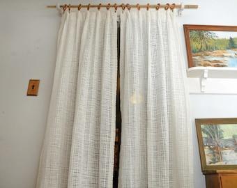 PAIR Sears Roebuck Woven Curtain Panels