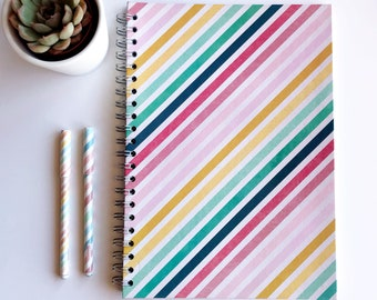 Rainbow Stripes A4 Notebook