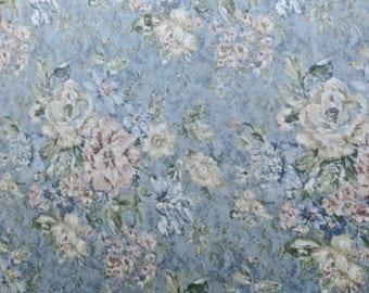 Vintage Cotton Floral Tablecloth 50 x 70