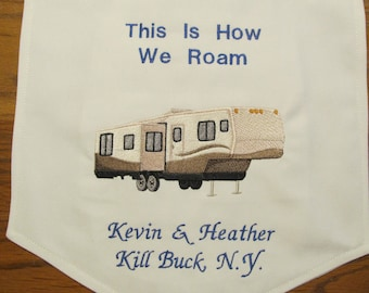 RV & Camping Flag Personalized with 5th wheel