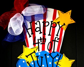 4th of July Uncle Sam Wreath | 4th of July Party | 4th of July Decor | Patriotic Decorations |  Memorial Day Wreath