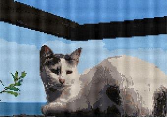 Needlepoint Kit or Canvas: Oceanside Cat