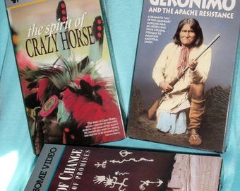 Native American History, American Indian  Movies of Geronimo,Spirit if Crazy Horse,Navajo,PBS Home Video,Vintage
