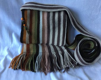Stripy Woolen Scarf Bag