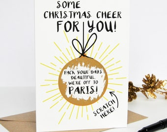 Bauble Scratch Card - Christmas Scratch Card - Scratch Card - Scratch off Card - Christmas Gift Card - Personalised Christmas Card