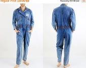 Spring Sale 80s Denim Jumpsuit / Vintage Jumpsuit / Figur Jeans / Blue Denim Jumpsuit / Unisex Jumpsuit / Man Denim Jumpsuit / 80s Jumpsuit