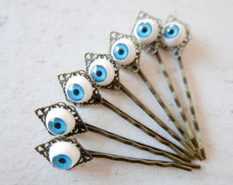 Eye Hair pin Barrette Eye gothic jewelry vintage