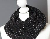 Snood tissu gouttes d'eau  // jersey de coton // letitsnood // FRAIS PORT GRATUITS
