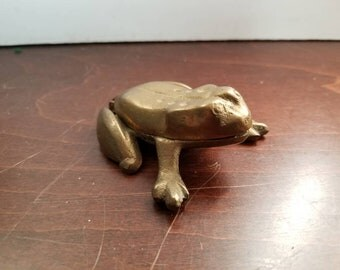 Brass Frog Trinket Box