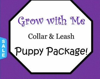 Sale - 40% Off Puppy Package-(includes 3 collars of various sizes and a matching leash)!