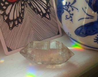 Double Terminated Manifesting Generator Clear Quartz Crystal - Reiki charged - Healing Meditation Yoga Chakra Balancing Witch Spells Altar