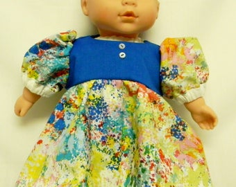 Puffed Sleeve Dress For 12 Inch Baby Doll