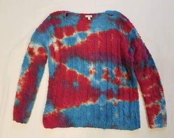 Funky Tie Dye Ladies Sweater size Large W260