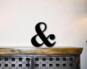 Ampersand metal sign for home decor, wall signs, gifts for her, metal sign, metal wall art,  metal decor, custom metal sign, wall art